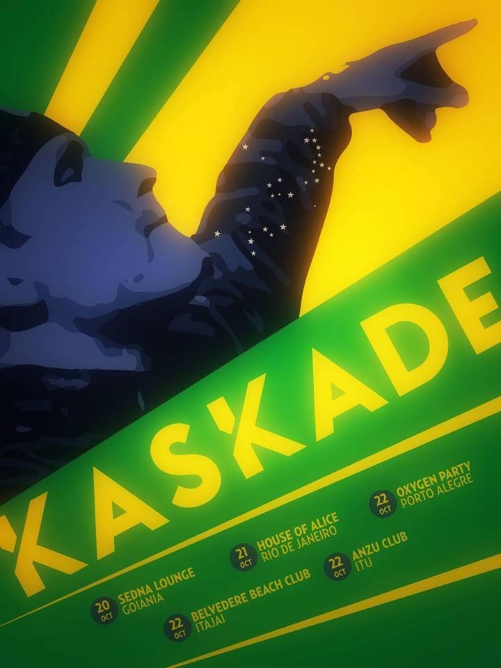 Tour de Kaskade no Brasil, em outubro