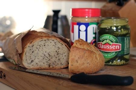 Peanut Butter & Pickle Sandwich: Makings