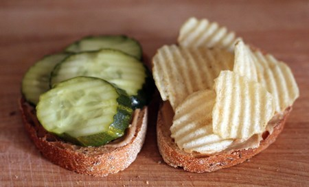 Peanut Butter & Pickle Sandwich: Slices