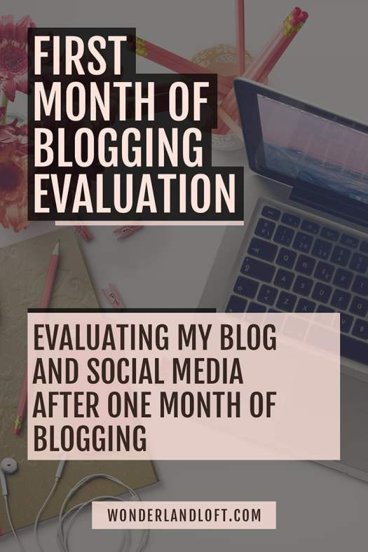 Evaluation of my first month of #blogging