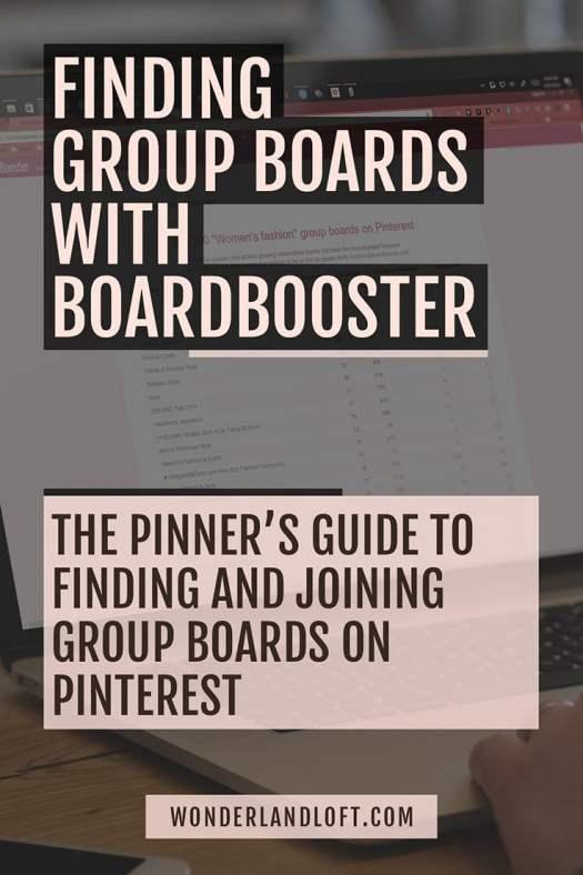 Find #Pinterest Group Boards in #BoardBooster