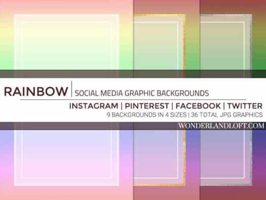 Free rainbow social media backgrounds