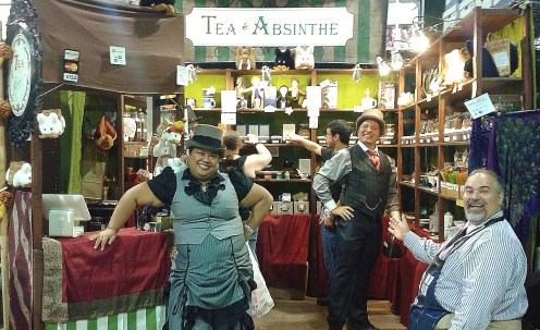 This was a tea booth with steampunk flair!