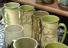 Tree mugs by Mesiree Ceramics (they had Totoro mugs too!)