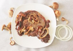 Pan-Seared Steak with Mushrooms and Onions: A Hogwarts House-Elf Specialty