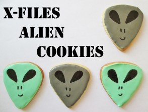 X-Files Alien Cookies