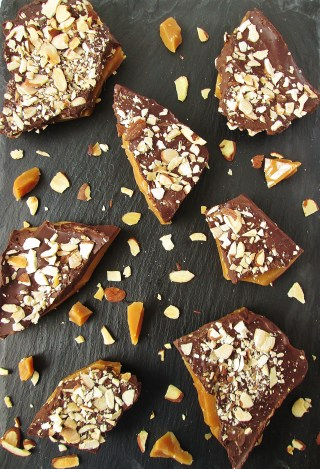 Salted Dark Chocolate Almond Toffee from Sabriel
