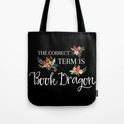 Book Dragon tote from PaperFury