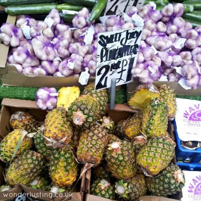 Lewisham market - pineapples garlic