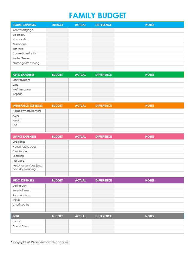 free budget sheets - Cypru.hamsaa.co