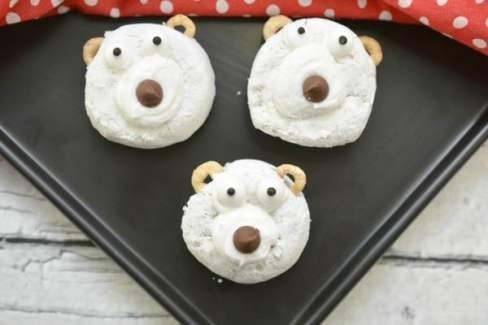 polar bear donuts breakfast