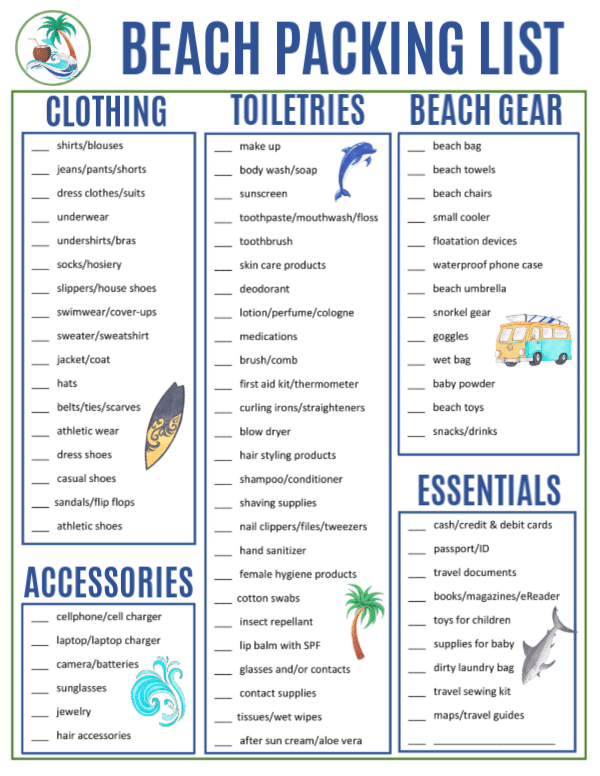 Beach Packing List For Your Vacation