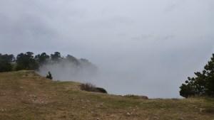 Les nuages sur le versant Ouest