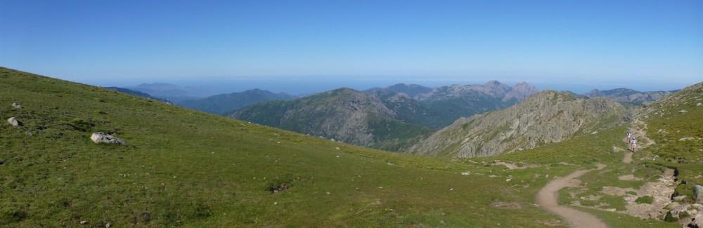 Panorama juste après le Col St Pierre