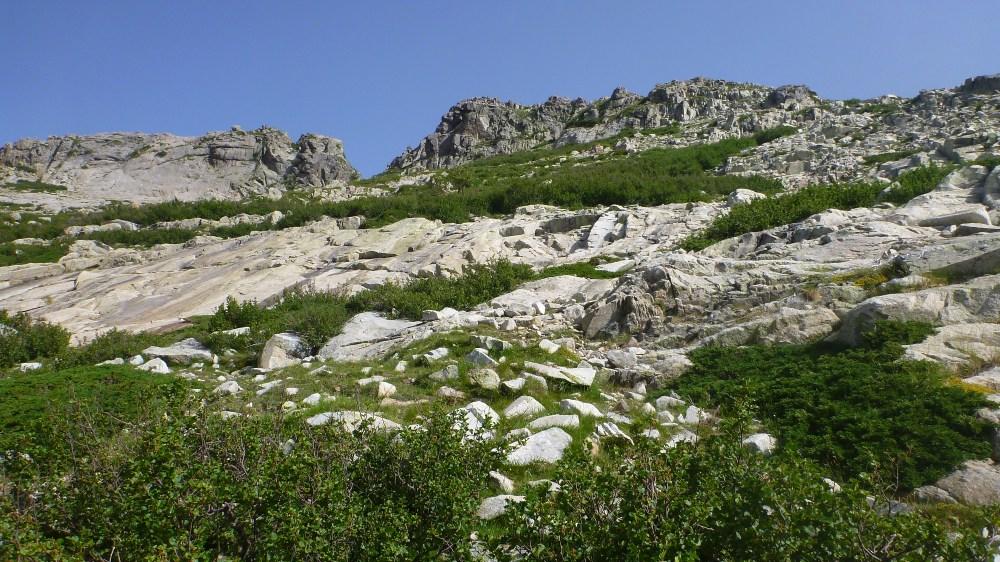 La descente après punta Muratello