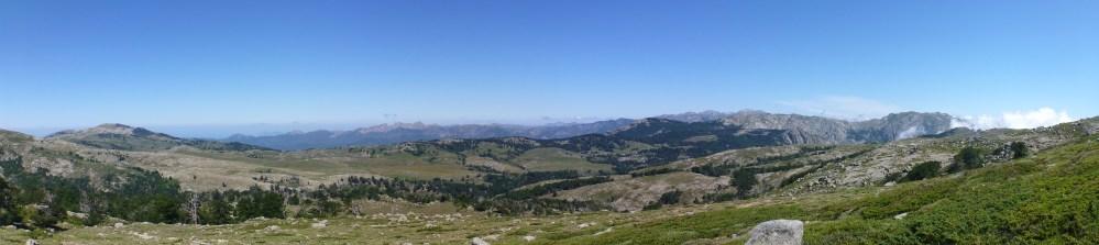 La plaine depuis le Mont Incudine
