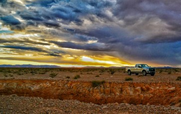 Our Truck Near Sunset
