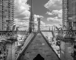 Roof Between the Towers - roof & spire gone