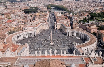 St Peter's Square from the Basilica Dome