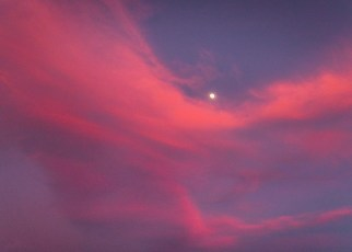Moon at Sunset 4