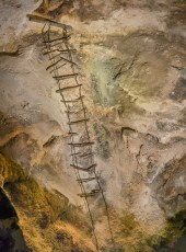 Ladder Left by Early Cave Explorers