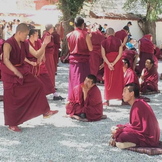 Monks debates in Sera Monastery, Lhasa Tibet