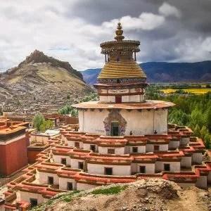Kumbum chorten, Palkhor Monastery in Gyantse, Tibet