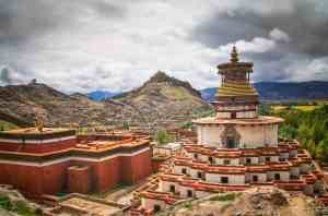 Buddhist Kumbum Chorten In Gyantse, Tibet
