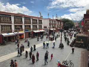 View on Bakhor Street in Lhasa