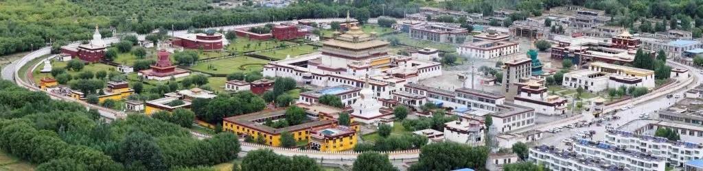 Samye Monastery complex in Tibet