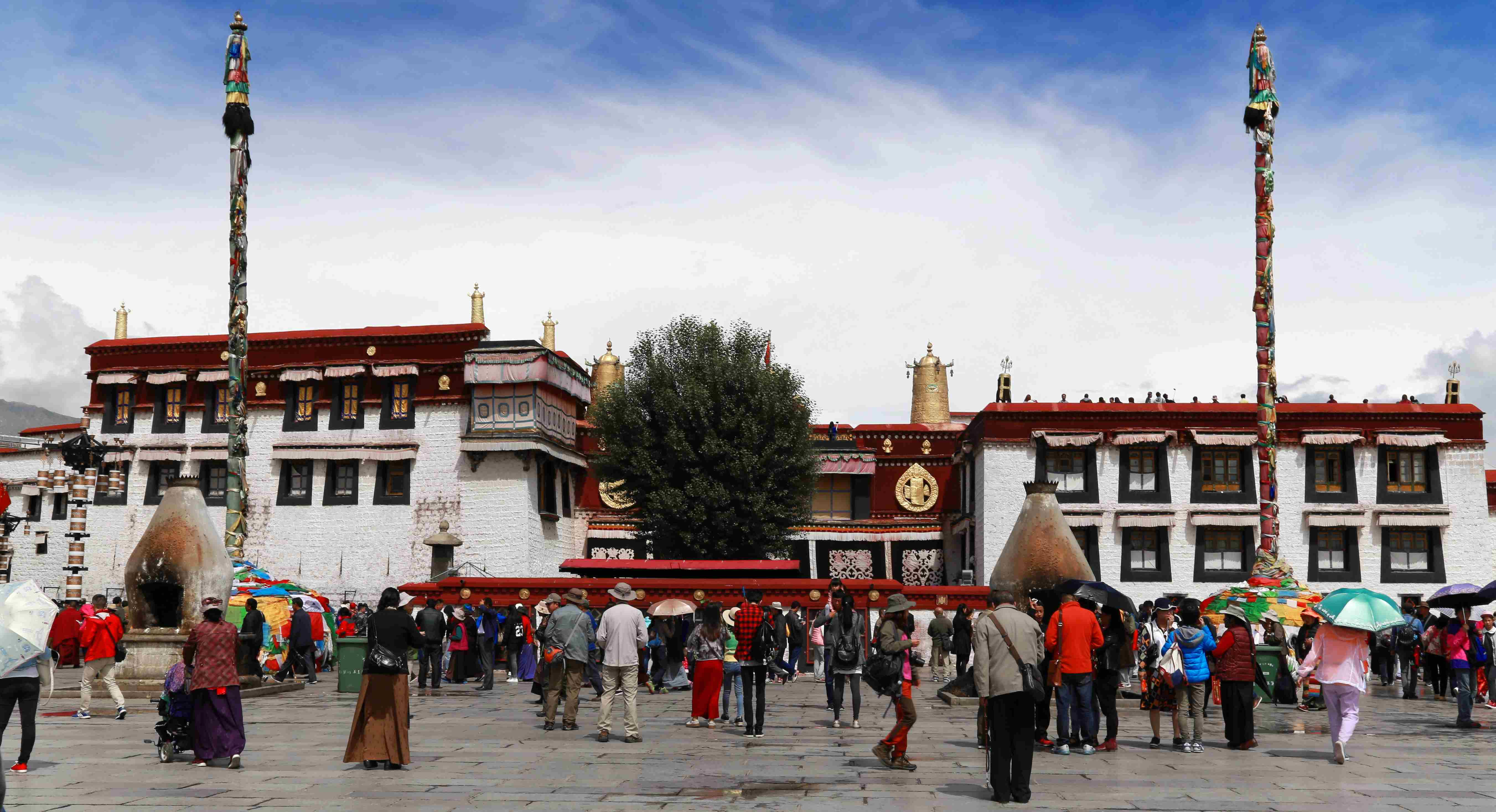View on Jokhang from the Bakhor Square in Lhasa, Tibet