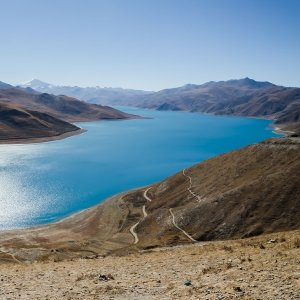 Yamdrok Lake in Tibet