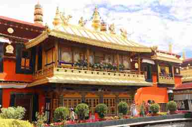 Dalai Lama living quarter in the Jokhang Temple