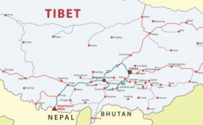 Map or Everest Base Camp tour