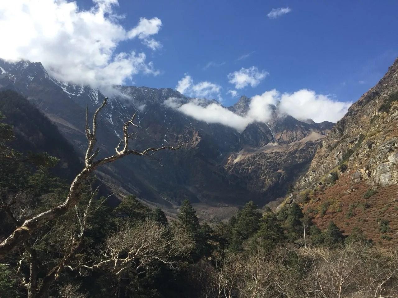 Near Gyirong Tibet Nepal border