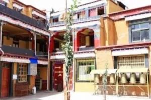 The courtyard of Ani Tsamkhong Nunnery