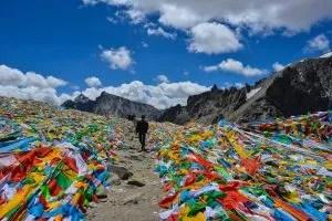 Dolma la pass in Mountain Kailash in Tibet