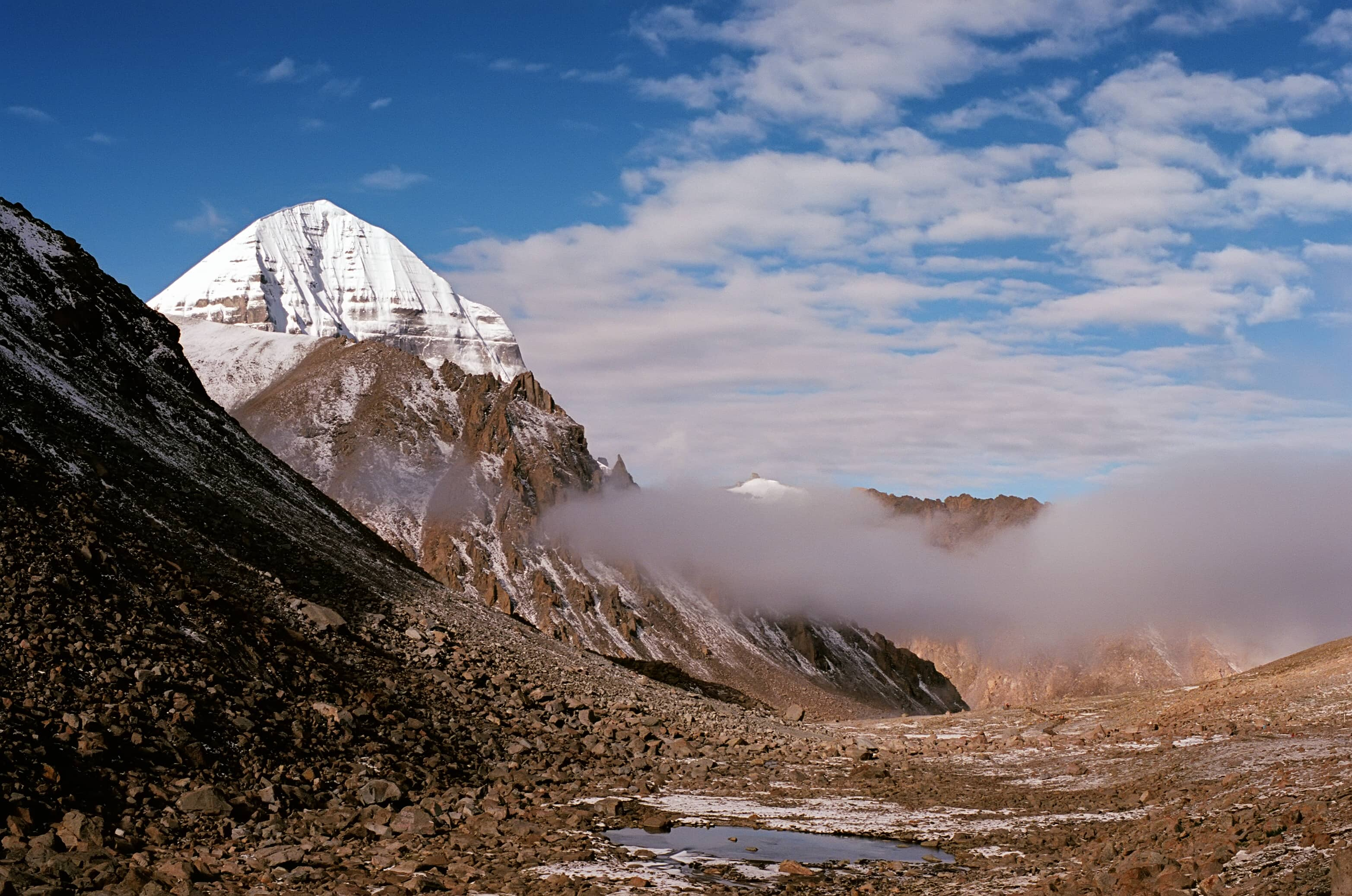 East Face of the sacred Mount Kailash in Tibet