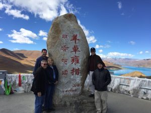 Group tour visits the Yamdrok Lake in Tibet