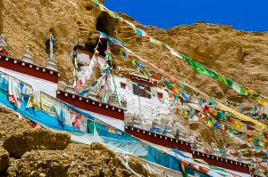 Khyunglung caves in the Garuda Valley, Tibet