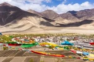 View of Samye monastery from Hepo Ri