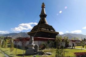 Black stupa in Samye monastery