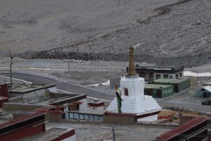 Military checkpoint near Rongbuk monastery in Tibet