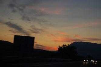Driving into Maribor, Slovenia, from Lignano, Italy.