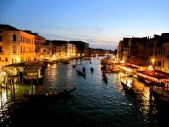 On the Rialto in Venice, Italy