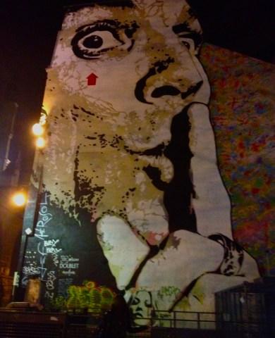 Dali graffiti near Pompidou