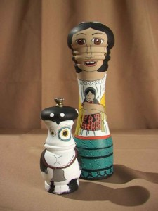 Southwestern Girl and Her Goat Salt and Pepper Shakers
