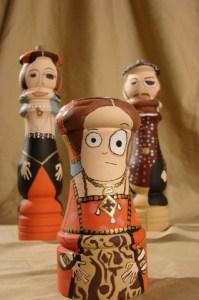 Henry VIII, Anne Boleyn, and Elizabeth I Salt and Pepper Shakers