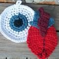 Eye Heart Potholders