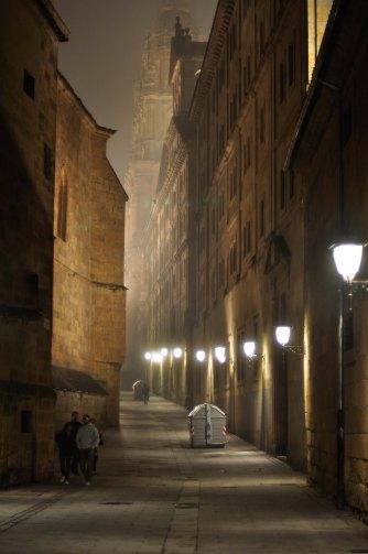Salamanca in fog